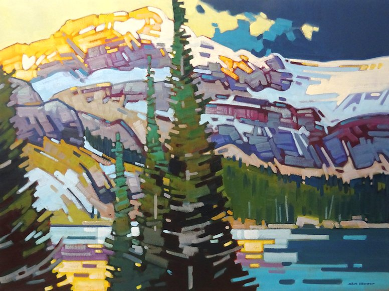 "Image of art work ""Bow Glacier Dawn - Bow Lake"""