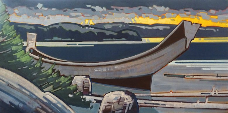 "Image of art work ""November Evening along the Northcoast"""