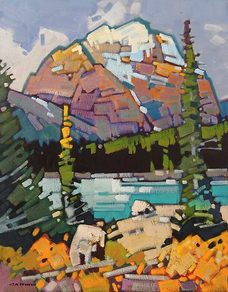"Image of art work ""Mt. Kerkeslin - Jasper"""