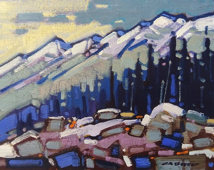 "Image of art work ""Fresh Snow on the Sawbacks"""