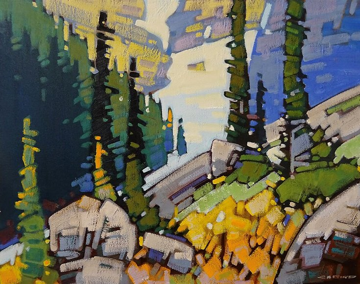"Image of art work ""Snow Patterns-Morning in Rogers Pass"""