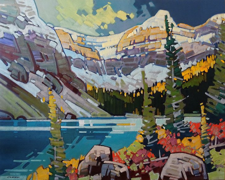 "Image of art work ""Larch Arrival - Bow Lake"""