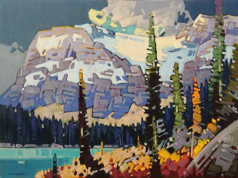 "Image of art work ""Autumn Below the Crowfoot"""