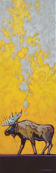"Image of art work ""Golden Patterns - Moose"""