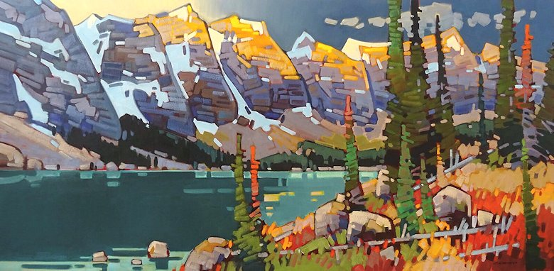 "Image of art work ""Drifting Light - Moraine Lake"""