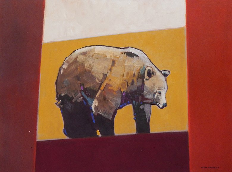 "Image of art work ""Center Square Ochre-Grizzly"""
