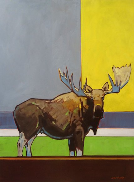 "Image of art work ""Right Square Yellow Moose"""