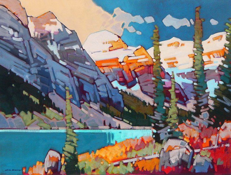 "Image of art work ""September Dawn at Lake Louise"""