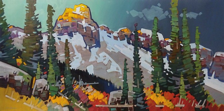 "Image of art work ""Yoho Stormlight - Cathedral Mountain"""