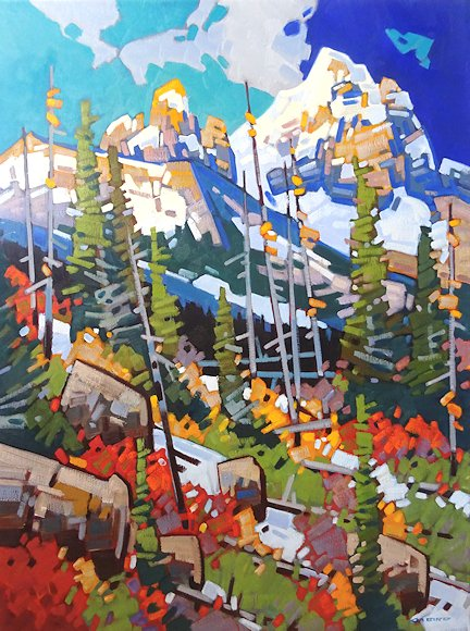 "Image of art work ""Passing Clouds at Kootenay Crossing - Verendrye"""