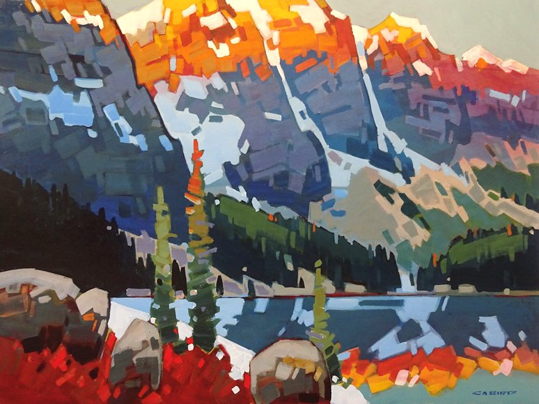"Image of art work ""Alpenglow Over Moraine"""