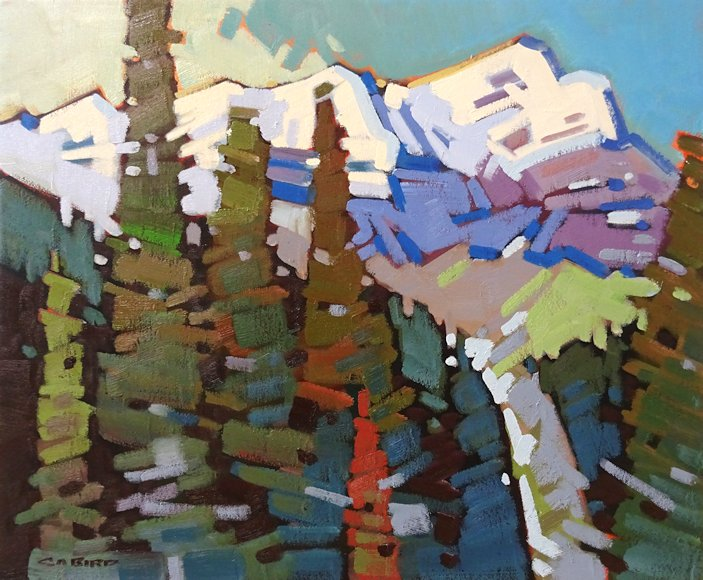 "Image of art work ""Mountain Where the Water Falls - Cascade Mtn"""