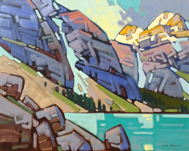 "Image of art work ""Dayreak at Moraine Lake"""