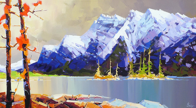 "Image of art work ""October Light Lake Minnewanka"""