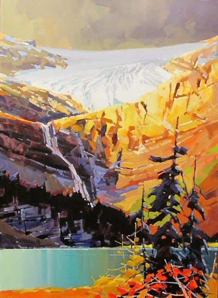 "Image of art work ""Bright Bow Glacier"""