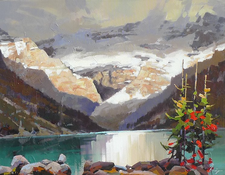 "Image of art work ""Fall at Lake Louise"""