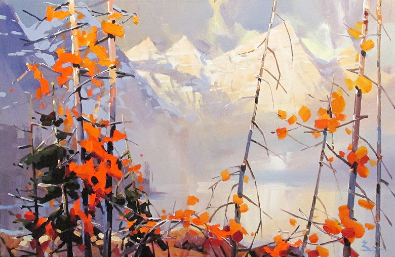 "Image of art work ""Fall in Moraine Lake"""
