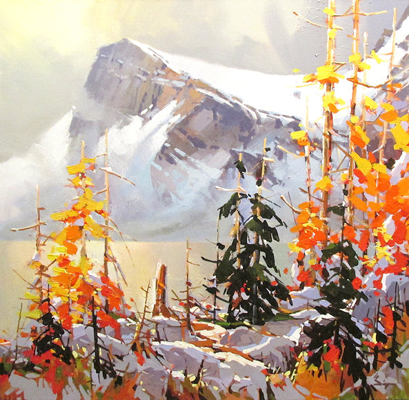 "Image of art work ""Golden Fall Bow Lake"""
