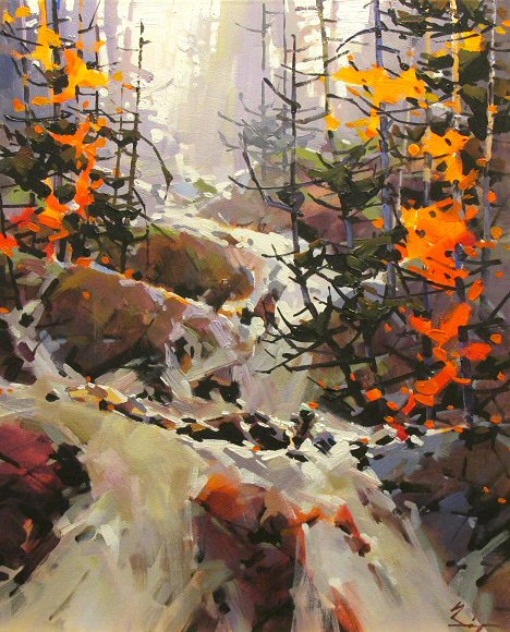 "Image of art work ""Fall in Mountains"""