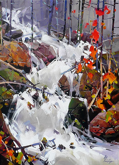 "Image of art work ""Fall and Rock"""