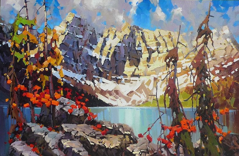 "Image of art work ""October Rawson Lake"""