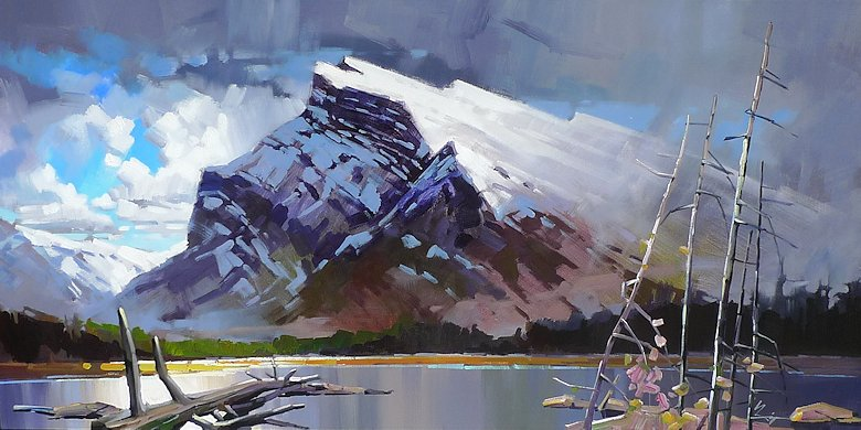"Image of art work ""Mount Rundle"""