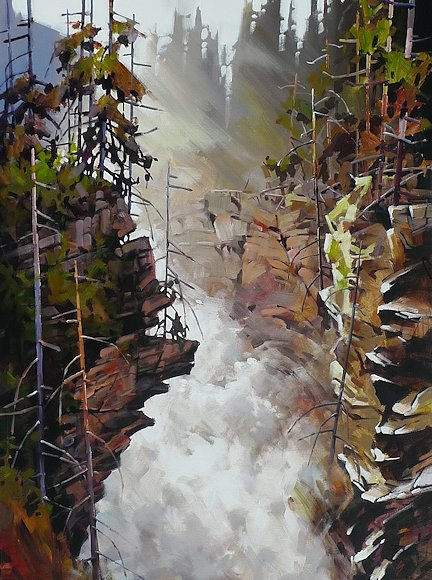 "Image of art work ""Athabasca Falls"""
