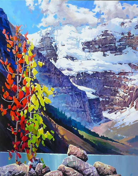 "Image of art work ""September Along Lake Louise"""