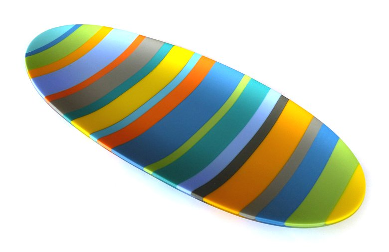 "Image of art work ""Colour Bars Oval Platter (vf002)"""