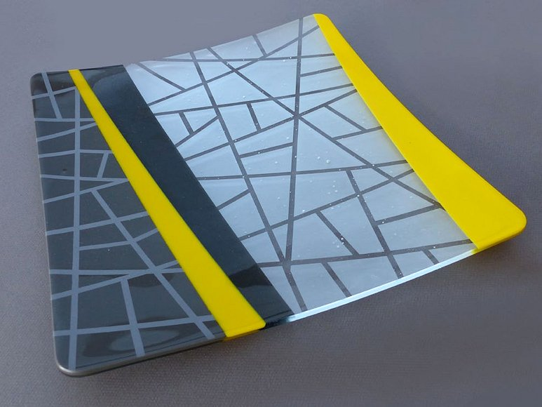 "Image of art work ""Grey and Yellow Plate (vf034)"""