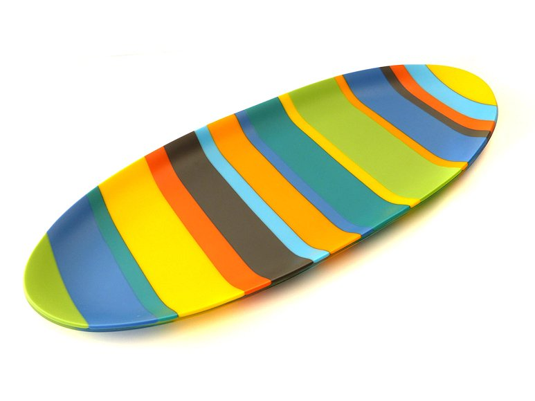 "Image of art work ""Colour Bars Oval Platter (vf047)"""