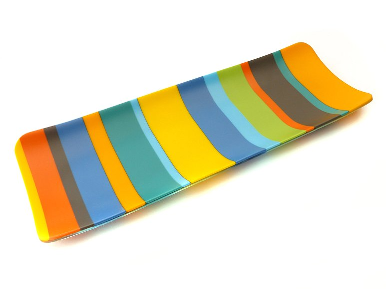 "Image of art work ""Colour Bars Large Channel Platter (vf048)"""