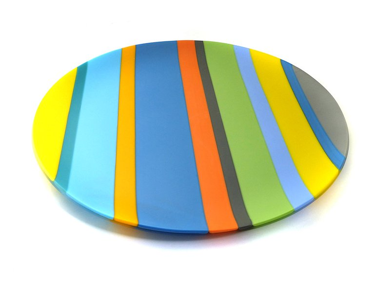 "Image of art work ""Colour Bars Round Platter (vf049)"""