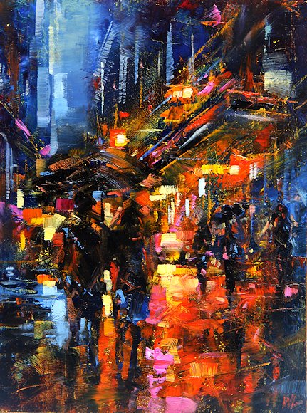 "Image of art work ""In the Rain"""