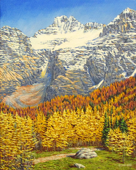 "Image of art work ""Autumn Gold - Larch Valley"""