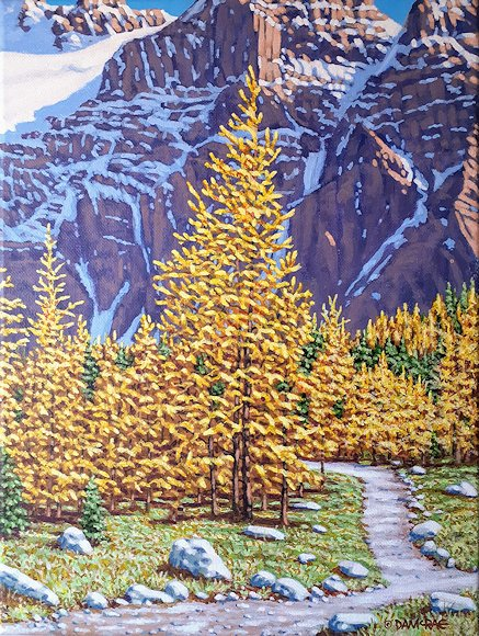 "Image of art work ""Larch Valley Lit Up"""