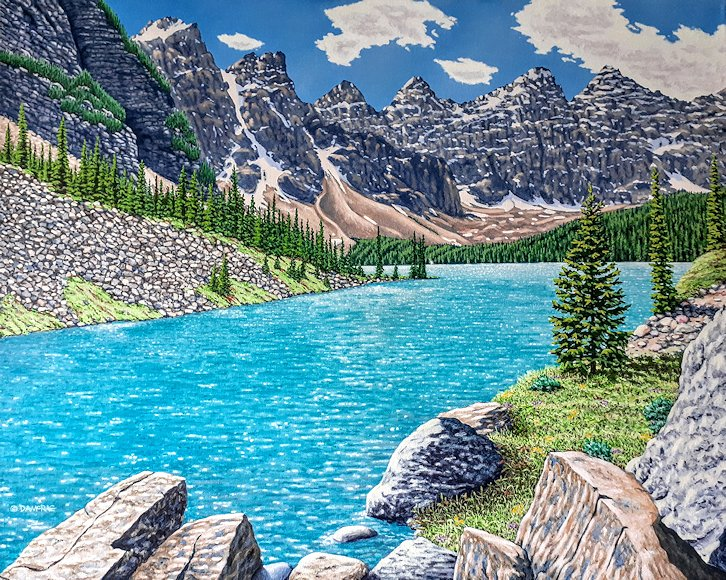 "Image of art work ""Magnificent Day at Moraine Lake"""
