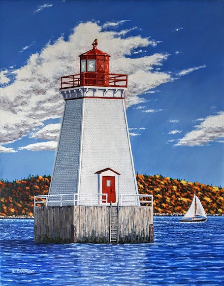 "Image of art work ""Sandy Point Lighthouse"""