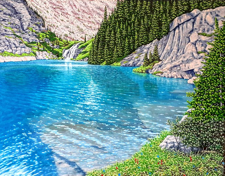 "Image of art work ""The Turquoise Waters of Taylor Lake"""