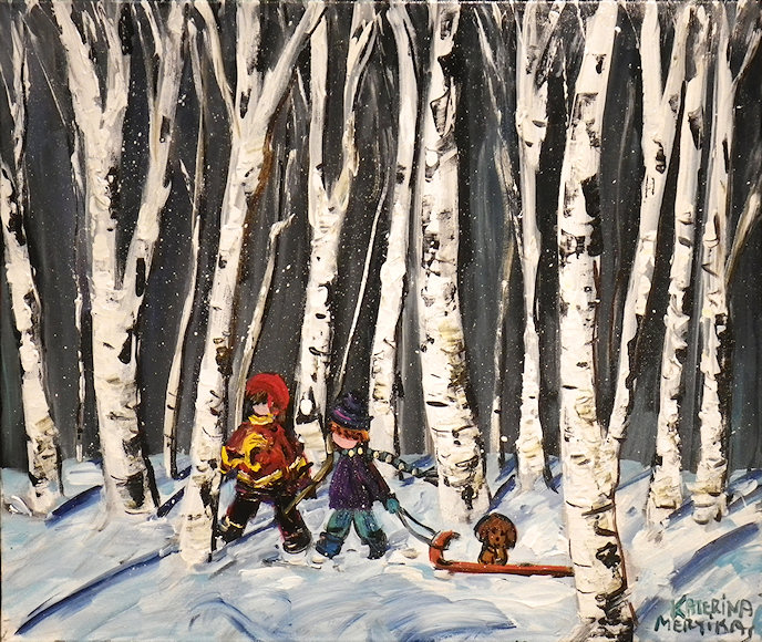 "Image of art work ""Through the Birch Trees"""