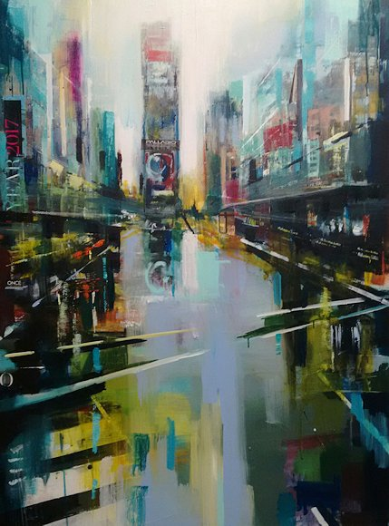 "Image of art work ""A Day in Manhattan Times Square"""