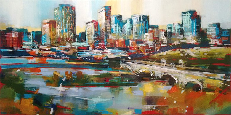 "Image of art work ""Calgary Skyline"""