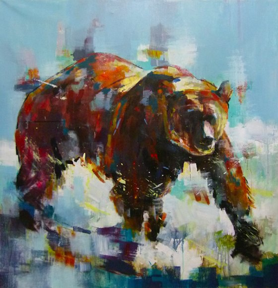 "Image of art work ""Grizzly From Jasper II"""