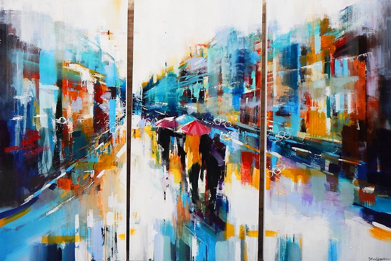 "Image of art work ""Summer Showers (triptych)"""